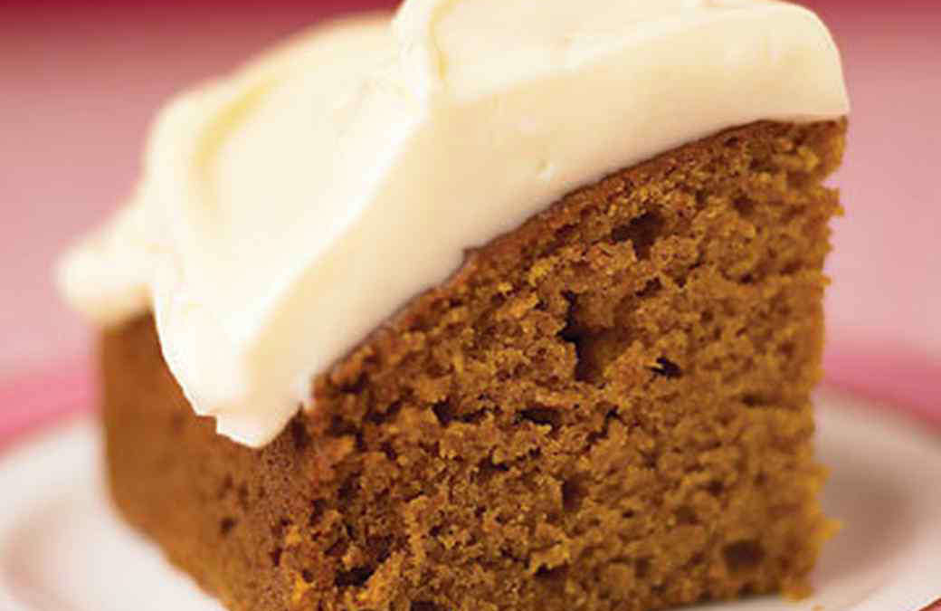 Made Healthy: Pumpkin Spice Cake with Honey Frosting (Serves 10)