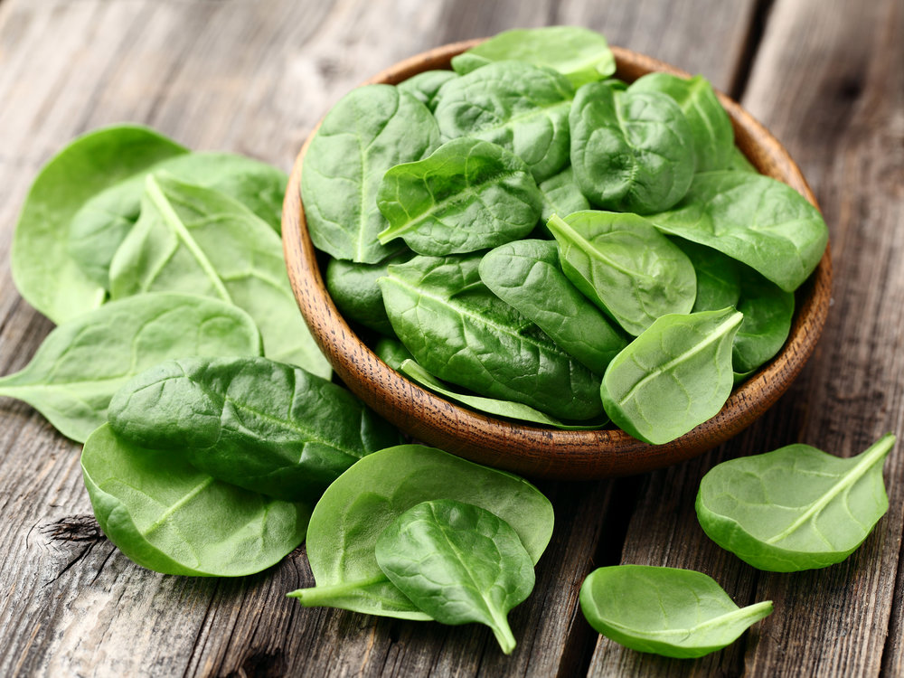 bunch of spinach bowl healthy