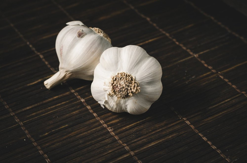 bulb garlic whole stock healthy diet benefits