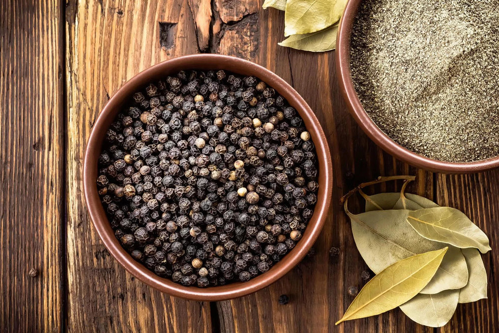 black pepper in a bowl