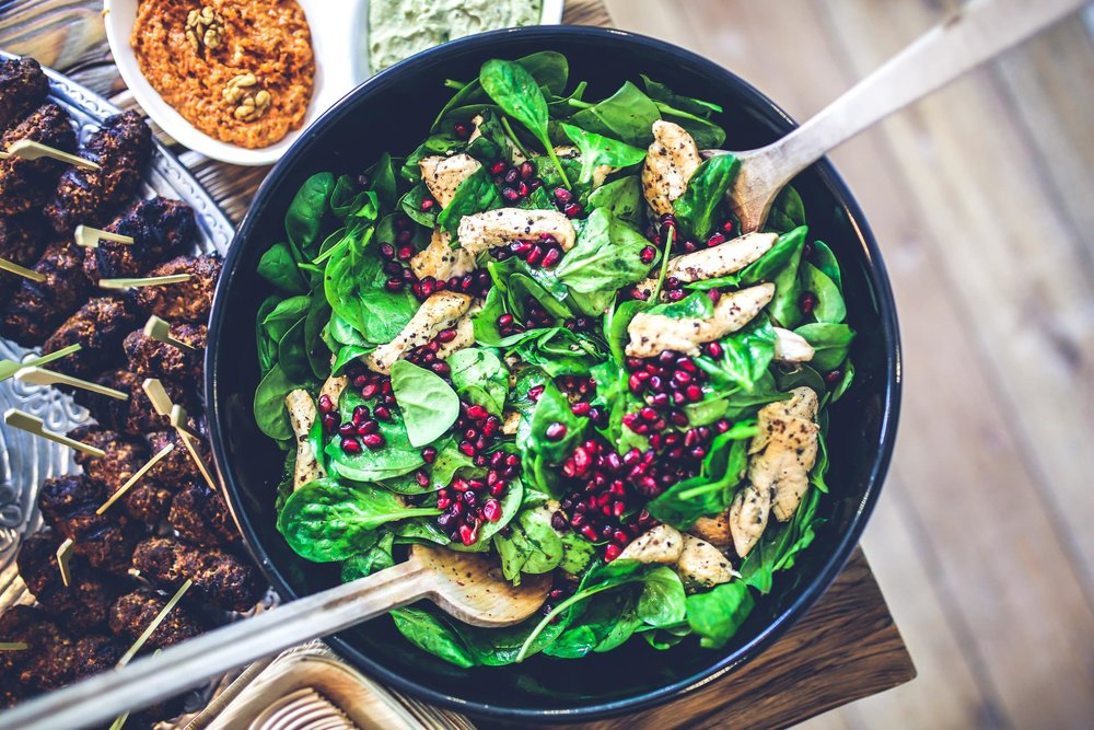 spinach salad bowl weight loss